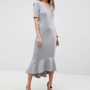 ASOS Gray Midi Dress 0